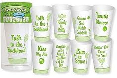 Tennis party cups