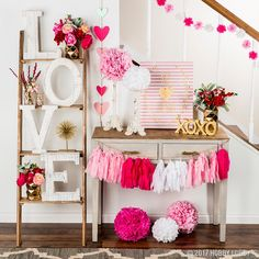 Are you going to have a party on Valentine's Day? if yup, here are Valentine's Party Decorations Ideas for you. Almost inseparable colors for parties on Valentine&… Valentines Day Decorations, Valentines Day Party, Valentine Day Crafts, Love Valentines, Valentines Day Gifts For Her, Saint Valentine, Funny Valentine, Christmas Decorations, San Valentin Ideas