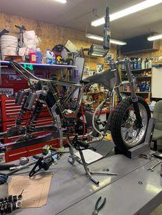 Motorcycle Garage, Stationary, Bike, Gym, Bicycle, Trial Bike, Work Out, Bicycles, Gym Room
