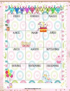 Agenda escolar 2018 de unicornio para imprimir gratis Birthday Smiley, Birthday Tracker, Classroom Birthday, Project Planner, Planner Decorating, Happy Birthday Images, Teacher Hacks, Doodle Drawings, Printable Paper