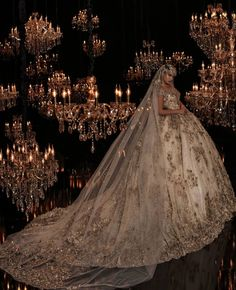 Beautiful evening wedding, sets the romantic mood for a perfect wedding. The veil. Beautiful Wedding Gowns, Dream Wedding Dresses, Beautiful Bride, Bridal Dresses, Elegant Wedding, Quince Dresses, Wedding Looks, Perfect Wedding, Princess Wedding