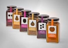 Very nice die cut labels, transparent and natural looking. Very Innocent-esque Geleta jam package design / Dori Novotny