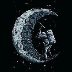 Cavando a lua