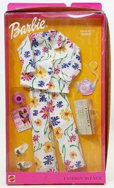 1999 Barbie Fashion Avenue Charm MIB Bathtime Chat Doll Clothes 25702 Mattel for sale online Pajamas For Teens, Cute Pajamas, Comfy Pajamas, Barbie Doll House, Barbie Dolls, Ropa American Girl, Accessoires Barbie, Barbie Sets, Diy Barbie Furniture