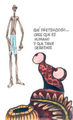 Caricatura de Zapata sobre derechos humanos. Caracas, 18-04-2011 (PEDRO LEON ZAPATA / ARCHIVO EL NACIONAL).