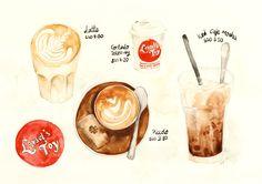 Loysels Toy Coffee Illustration