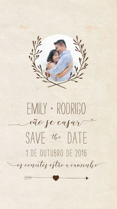 Save the Date Digital - Emily | Estúdio Tatu | Elo7