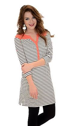 Striped to Be, Cream :: NEW ARRIVALS :: The Blue Door Boutique