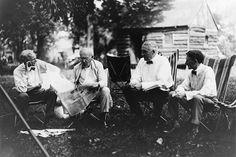 Henry Ford, Thomas Edison, President Warren Harding, and Harvey Firestone on a Vagabonds Camping Trip, 1921 | Flickr - Photo Sharing!