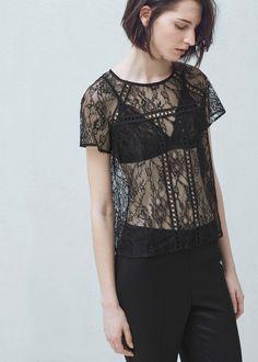 Lace blouse | MANGO