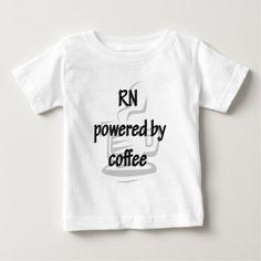 RN POWERED BY COFFEE T SHIRTS T Shirt, Hoodie Sweatshirt
