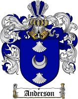 Anderson Coat of Arms - Swedish