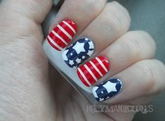 Holy Manicures: American Flag Nails.
