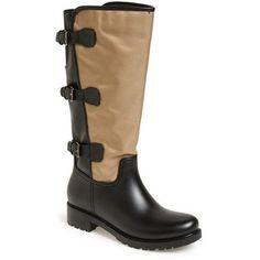 "däv Tall Buckle Rain Boot, 1 1/2"" heel"