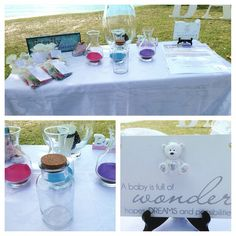 A lovely Sand Blending at my baby naming ceremony - three become one.