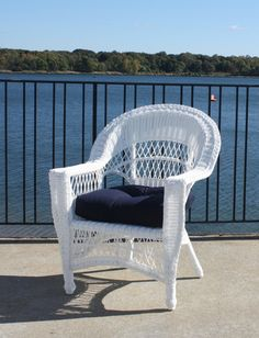 White Wicker Chair | wicker furniture  pinned by wickerparadise.com