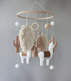 Your place to buy and sell all things handmade Felt Mobile, Baby Crib Mobile, Baby Cribs, Nurseries Baby, Neutral Nurseries, Mobile Mobile, Nursery Neutral, Elephant Nursery, Boho Nursery