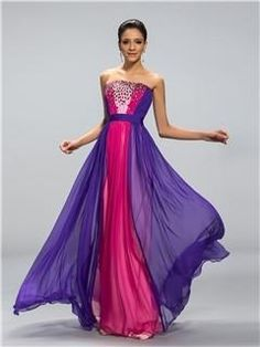 Stunning Strapless Beaded A-Line Long Prom Dress Designed Independently by circle