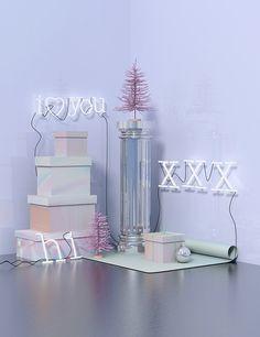 3D Pastel Colored Set Design