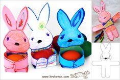 diy bunny egg stand