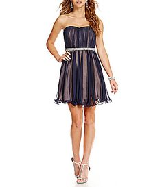 dc5be87d004 Sequin Hearts Strapless Two Tone Party Dress  Dillards Dance Dresses