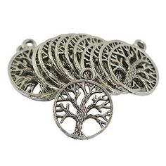 30Pcs Wholesale Lot Tibetan Silver Tree of Life Pendants Charms DIY Necklace