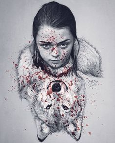 """6,426 Likes, 211 Comments - JAWAD ALGHEZI (@jawadalghezi) on Instagram: """"The revenge of the north. .. the bloody story will begin 🔪 Drawing for @maisie_williams"""""""