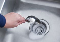 Want to naturally unclog a sink or clean a slow moving drain? Learn why you should not use baking soda and vinegar to clean your drains and what green solutions really work! Bathroom Drain, Sink Drain, Cleaning Solutions, Cleaning Hacks, Cleaning Recipes, House Cleaning Company, Unclog Sink, Clean Kitchen Cabinets, Cleaning Appliances