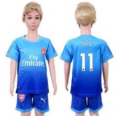 Arsenal Mesut Ozil 11 Dětské Venkovní dres komplet 17-18 Krátký Rukáv