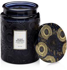Voluspa Moso Bamboo Large Glass Candle