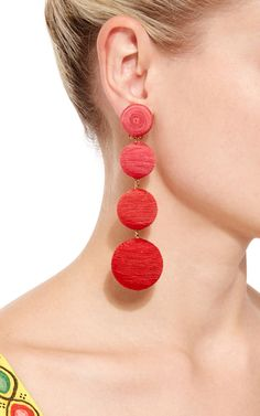 These **Rebecca de Ravenel** Les Bonbons earrings are handcrafted in silk thread…