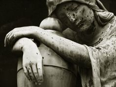Cemetery Statues, no. 4  Photographic Print  by Katrin Adam