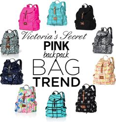 """Victoria's Secret Backpack Bag Trend"" by amanda-mcgee ❤ liked on Polyvore"