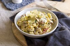This veal tortellini carbonara is proudly brought to you by Perfect Italiano.
