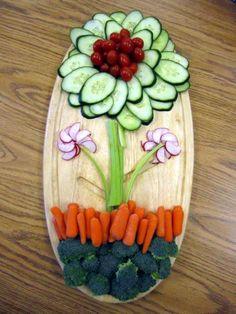 Fun with veggie tray