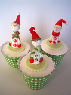 Vintage look snowmen by luckyjonesx4(Karen Jones), via Flickr