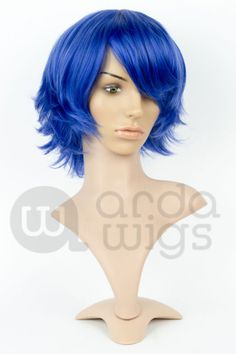 Our most popular style and a great wig for spiking. This short style barely brushes the chin and has lots of thick chunky layers that can be straightened or are Dark Ash Blonde, Light Blonde, Chunky Layers, Thing 1, Long Bangs, Cosplay Tutorial, Short Wigs, The Crown, Cosplay Wigs