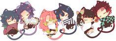 Cute Anime Chibi, Anime Girl Cute, Kawaii Anime, Anime Angel, Anime Demon, Manga Anime, Cute Kawaii Drawings, Demon Hunter, Dragon Slayer