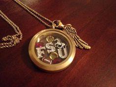 A friend designed this fsu locket! Go Noles!  Http://Tiffanie.origamiowl.com