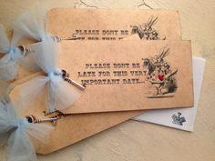 Alice in Wonderland Invitations custom by PinkCherryMama on Etsy, $127.50