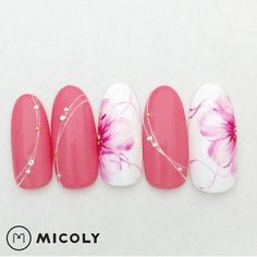 pink love nail art design