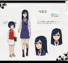"""Ano Hana Chiriko Tsurumi ( """"Tsuruko"""" ) (鶴見知利子 Tsurumi Chiriko)"""