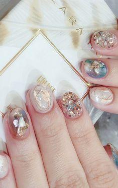 Pin by Kanon Roses on nails in 2020 Water Nail Art, Water Nails, Korean Nails, Finger Art, Nail Time, Japanese Nail Art, Gel Nail Designs, Creative Nails, Nail Arts