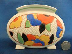 Unusual Royal Doulton Seriesware Art Deco Vase - Rare Shape!!   eBay