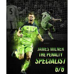 James Milner the penalty specialist ! 6/6 scored  Phone wallpaper will be on my Twitter - Check out my store, link in bio!  _ #liverpoolfc #liverpool #anfield #henderson #ynwa #lfc #bpl #league #lallana #football #soccer #footballer #jft96 #goal #stevieg #sturridge #kop #fifa #fut17 #firmino #kopite #milner #coutinho #gerrard #stevengerrard