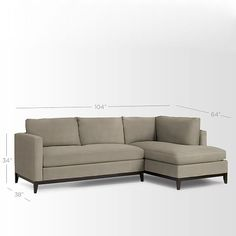 Blake Down-Filled 2-Piece Chaise Sectional | West Elm   paired with matching sofa