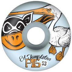 Buy Pig Ed Pelican Light Blue USA Wheel at the longboard shop in The Hague a3293ffb94d