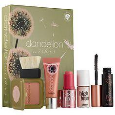 Dandelion Wishes Baby-Pink Makeup Set http://www.pickopop.com/cosmetics/product/benefit-cosmetics-dandelion-wishes-baby-pink-makeup-set/