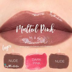 "Learn to mix it up. Use LipSense Mixology to create this ""Malted Pink"" LipColor by layering Nude & Dark Pink . #lipsense #mixitup"