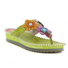 e4c4ff2a8 Laura Vita Brendy 04 JD3765-4 Womens Toe-Post Sandals - Green